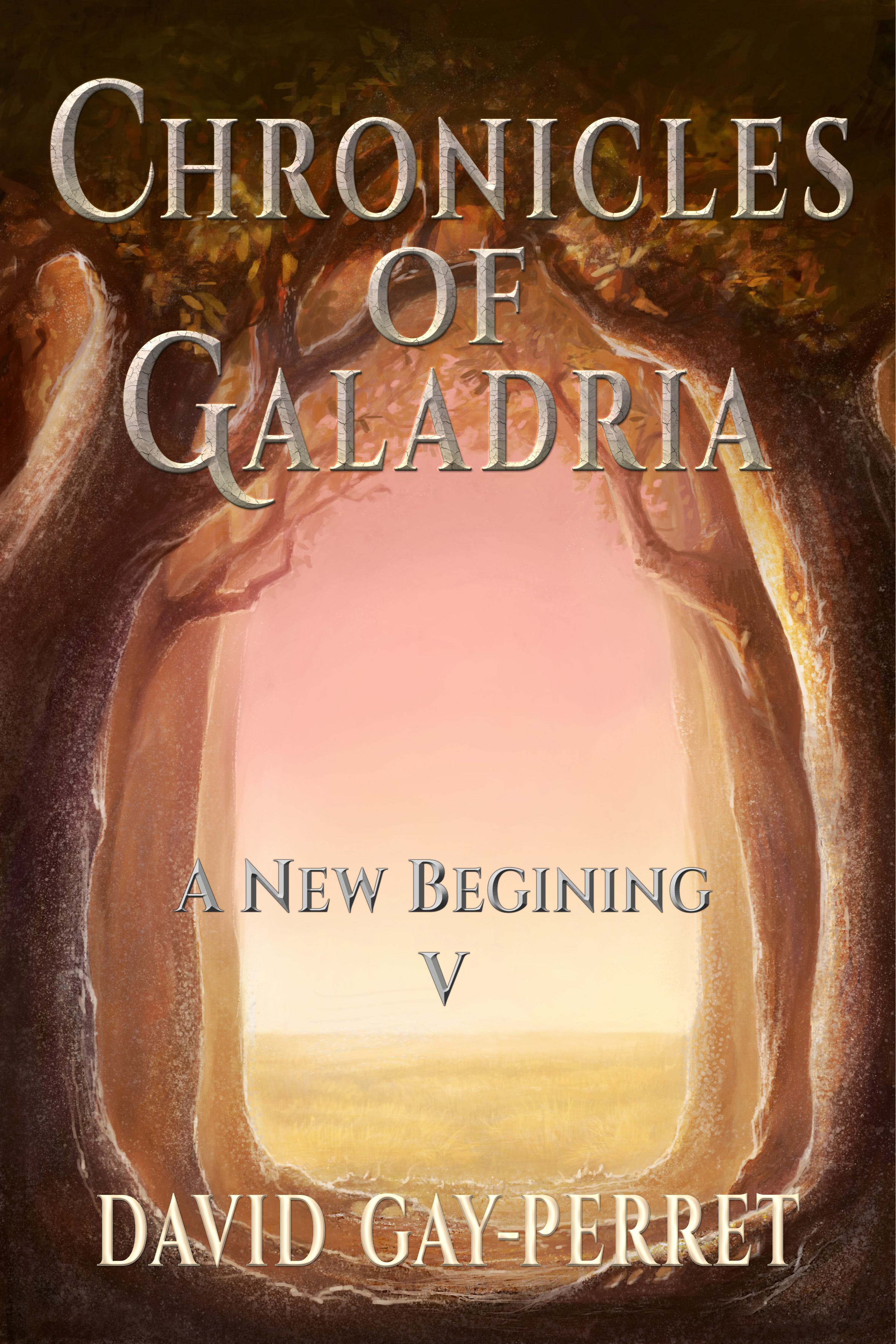 cover of the fifth volume of the Chronicles of Galadria, entitled A New Beginning